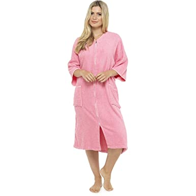 Undercover Lingerie Ladies 100% Pure Cotton Zip Through Towelling Dressing  Gown Robe Tom Franks  Amazon.co.uk  Clothing cde8610e8