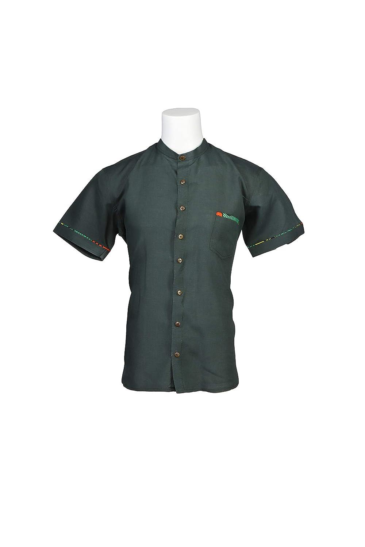 Modern Fit Band Collar African Mens Shirt