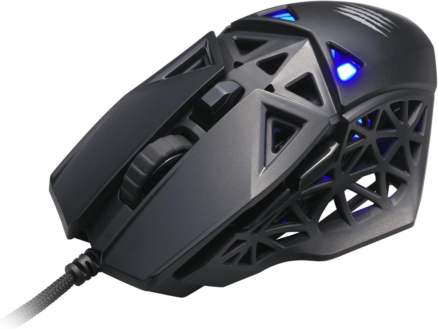 Mad Catz M1 Ratón Gaming Negro, MM04DCINBL00