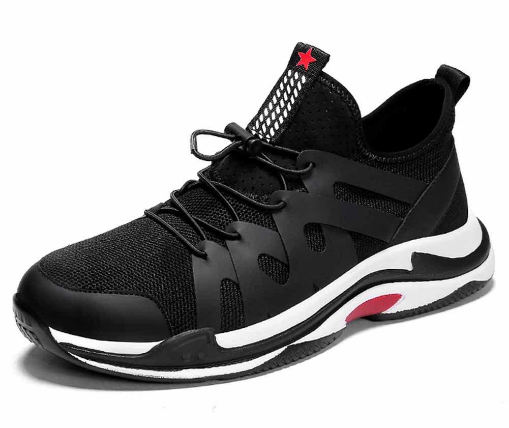 GLSHI Hombres Respirable Corriendo Zapatos 2018 Primavera Verano Nuevo Ligero Zapatillas Moda Casual Zapatos Al Aire Libre Entrenadores Zapatos (Color : Black White, Tamaño : 40) 40|Black white
