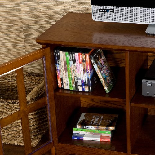 50'' Mission Style TV Media Stand Console , Walnut Finish by FurnitureMaxx (Image #1)