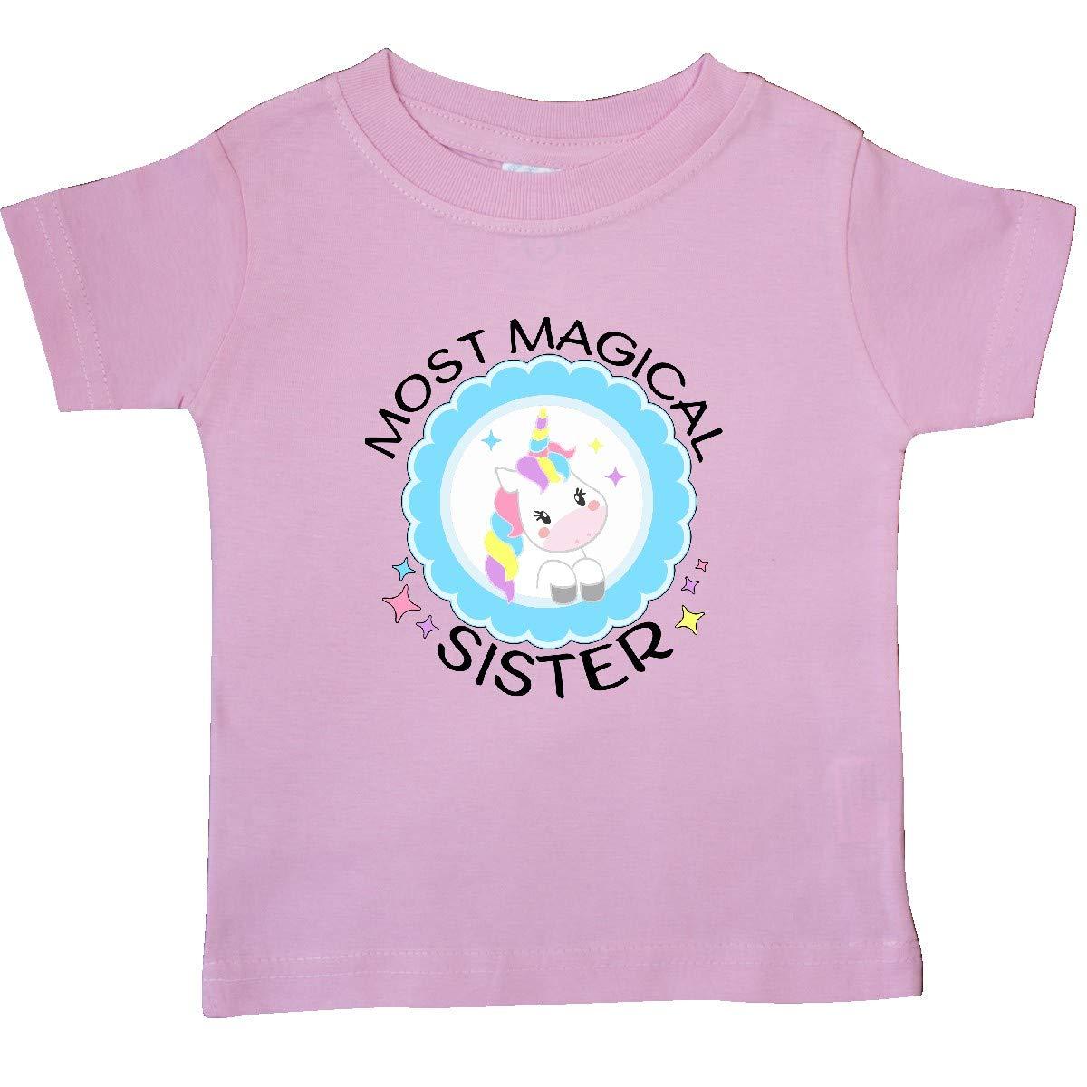 inktastic Most Magical Sister Cute Unicorn Badge Baby T-Shirt