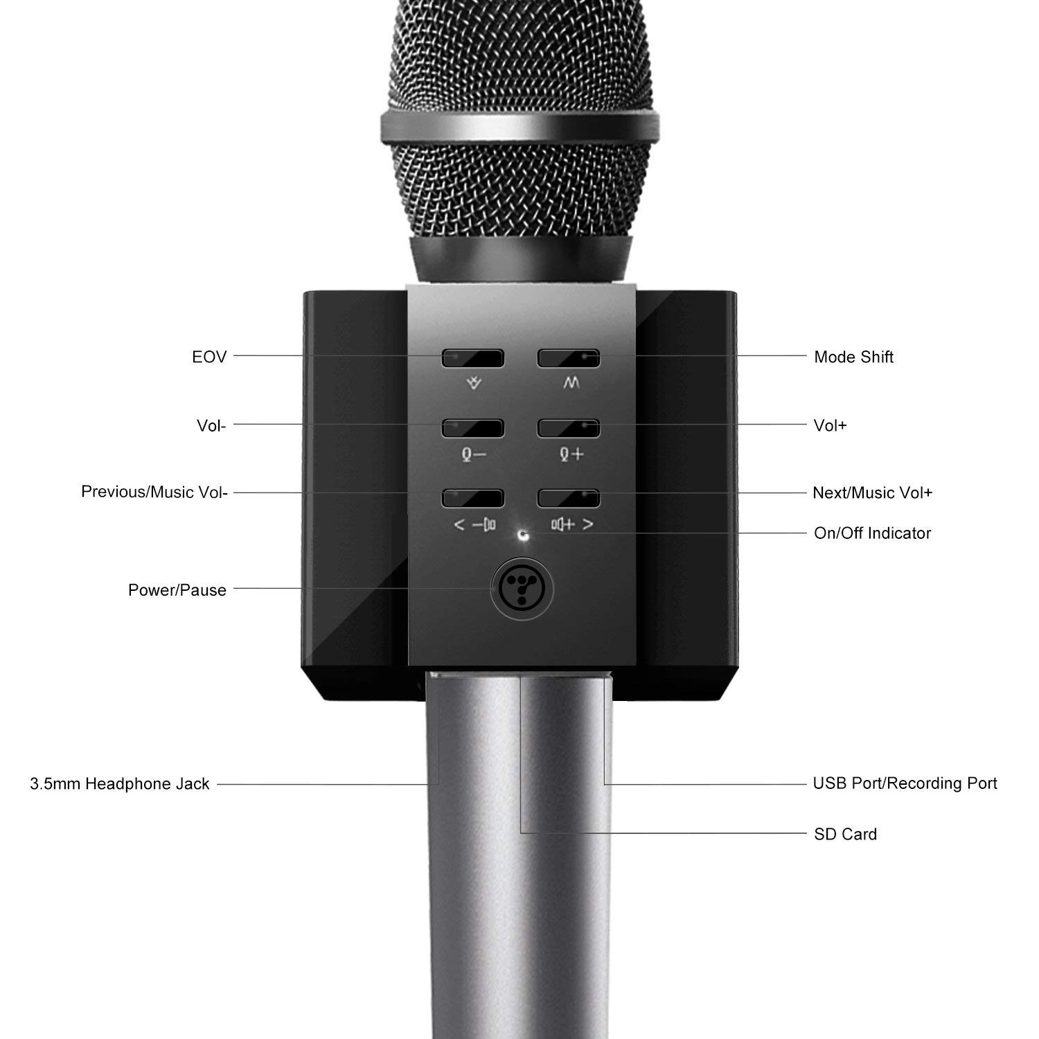 TOSING Wireless Karaoke Microphone for Kids, Top Birthday Party Gifts Ideas for Teens and Adults, Bluetooth Handheld Karaoke Machine, Superior Surrounding, Compatible with iPhone Android Phones by TOSING (Image #2)