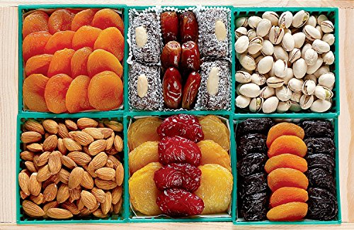 Broadway Basketeers Dried Fruit and Nut Gift Basket - A Healthy Gift