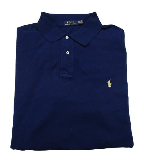 Polo Ralph Lauren Men s Big and Tall Pique Cotton Polo Shirt (2XLT, Fall  Royal b6d5e85c27