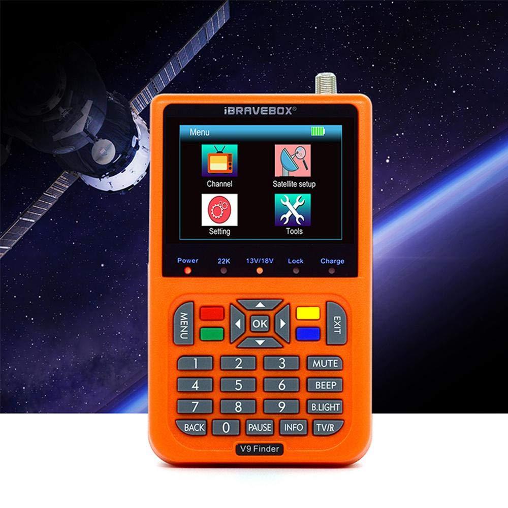 Eingebauter 3000-mAh-Akku 3,5 Zoll LCD-Display DVB-S // S2 HD-FTA-Satelliten-TV-Empf/änger Zum Einstellen Der Satellitensch/üssel LayOPO Sp/ätestes Modell V9 Satellitensucher Satellitenantenne