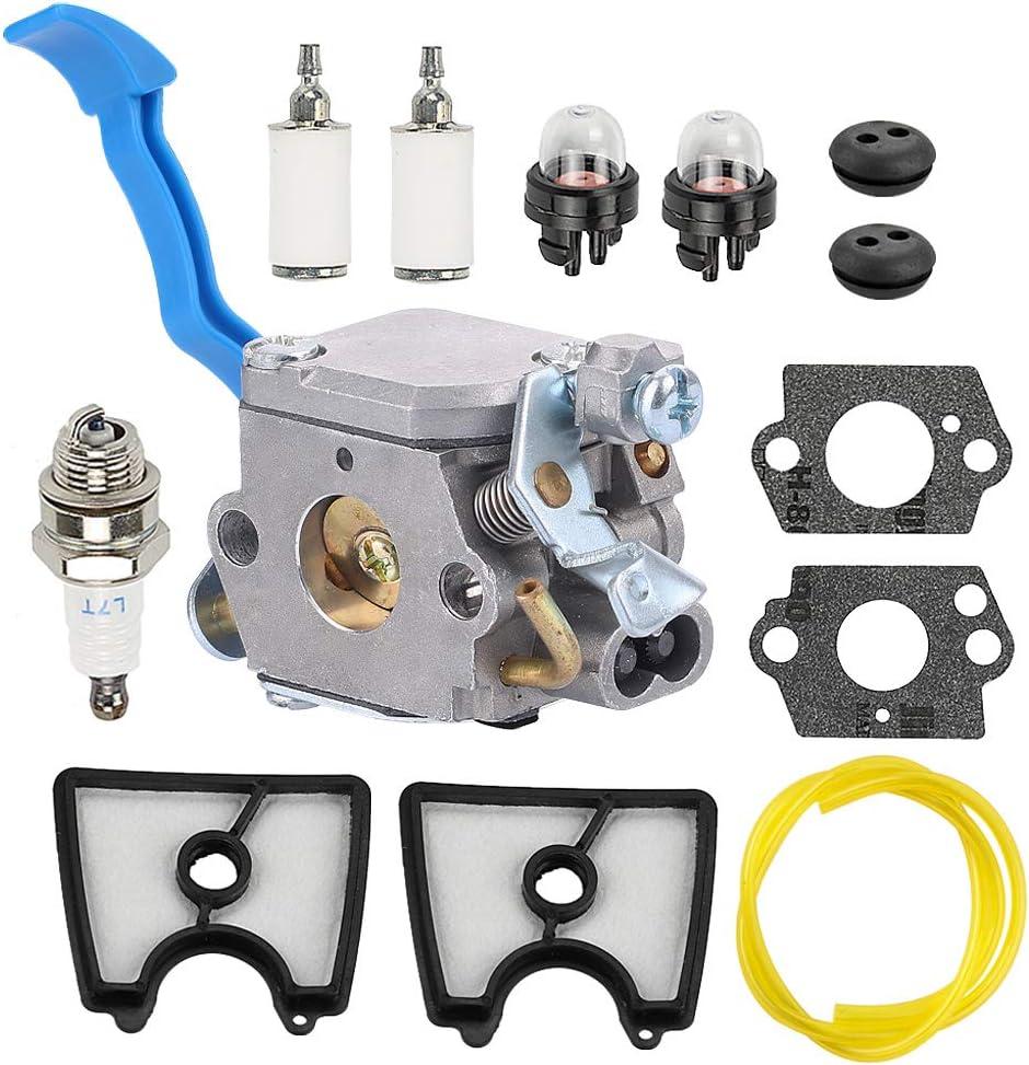 Milttor 545081811 Carburetor 545112101 Air Filter 581798001 Fuel Line Kit Fit Husqvarna 125B 125BX 125BVX Leaf Blower Zama C1Q-W37 Carburetor