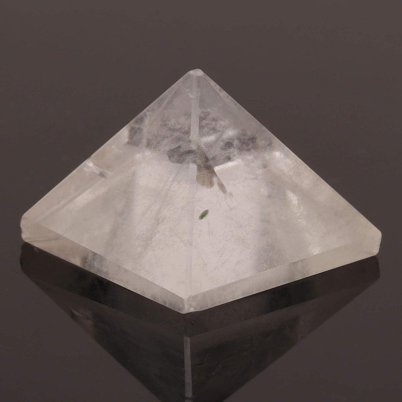Clear Quartz Healing Crystal Pyramid Metaphysical Stone Figurine 25 MM