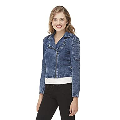 56c47a91041 Image Unavailable. Image not available for. Color  Dream Out Loud by Selena  Gomez Junior s Denim Moto Jacket ...