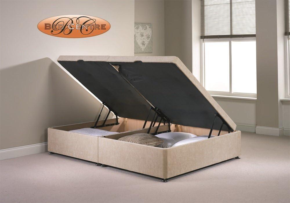 Divan Ottoman Side Lift Storage Bed Single 4'6 Double 5ft King Size Chenille (4FT6 Double, Mink)