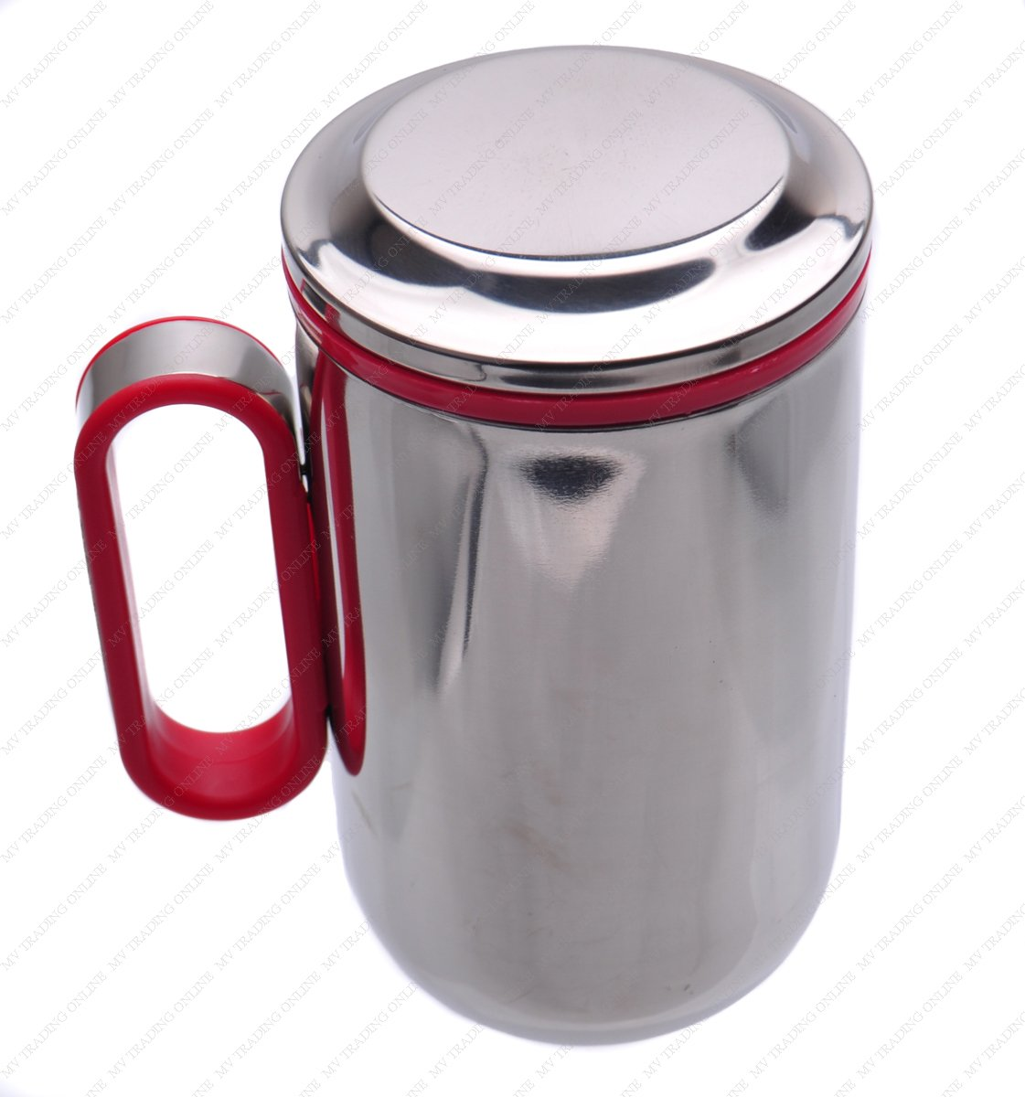 Double Wall Stainless Steel Thermal Coffee Mug/Teacup with Tea Strainer, 16.90-Ounces (500ml)