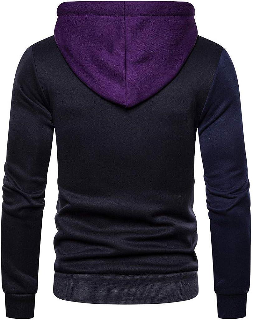 Kiyotoo Mens Contrast Raglan Hipster Gym Long-Sleeve Drawstring Pullover Blend Fleece Hoodie with Kanga Pocket