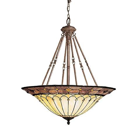 Amazon.com: 65188 Dunsmuir 6lt lámpara de techo, bronce ...