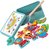 TOYANDONA Magnetic Fishing Game Fish Catching Counting Bath Time Toy Plaything for Kids Pool Christmas Birthday Party…