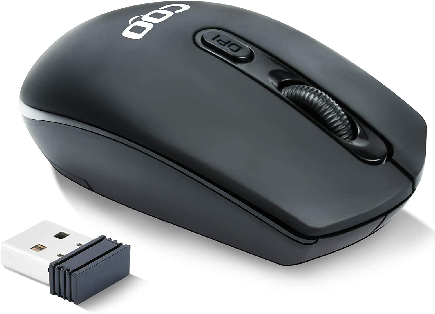 Wireless Computer Mouse,2.4G Wireless Optical Mouse with USB Receiver, Easy Click for Office and Home Mice,3 Adjustable DPI for Notebook, PC, Laptop, Computer, MacBook(Black)