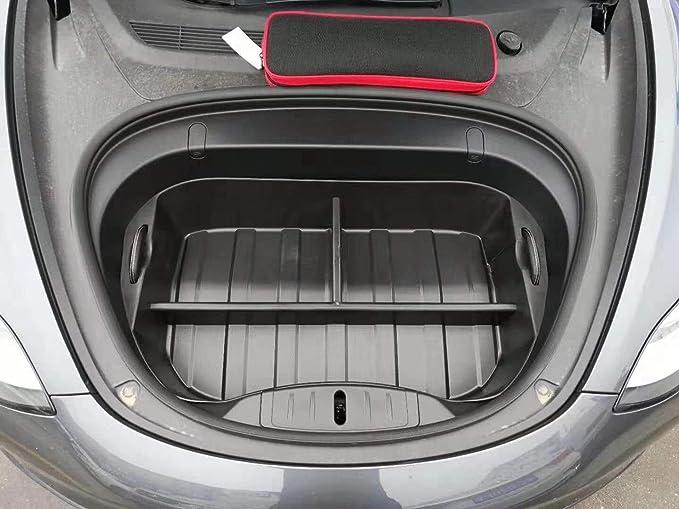 Fesjoy F/ür Tesla Modell 3 Schwarz Gummi TPE Kofferraummatten Ma/ßgeschneiderte Kofferraum Aufbewahrungsmatte Kofferraum Wasserdichte Schutzpolster Matte Kompatibel Aufbewahrungsmatte Wasserdicht