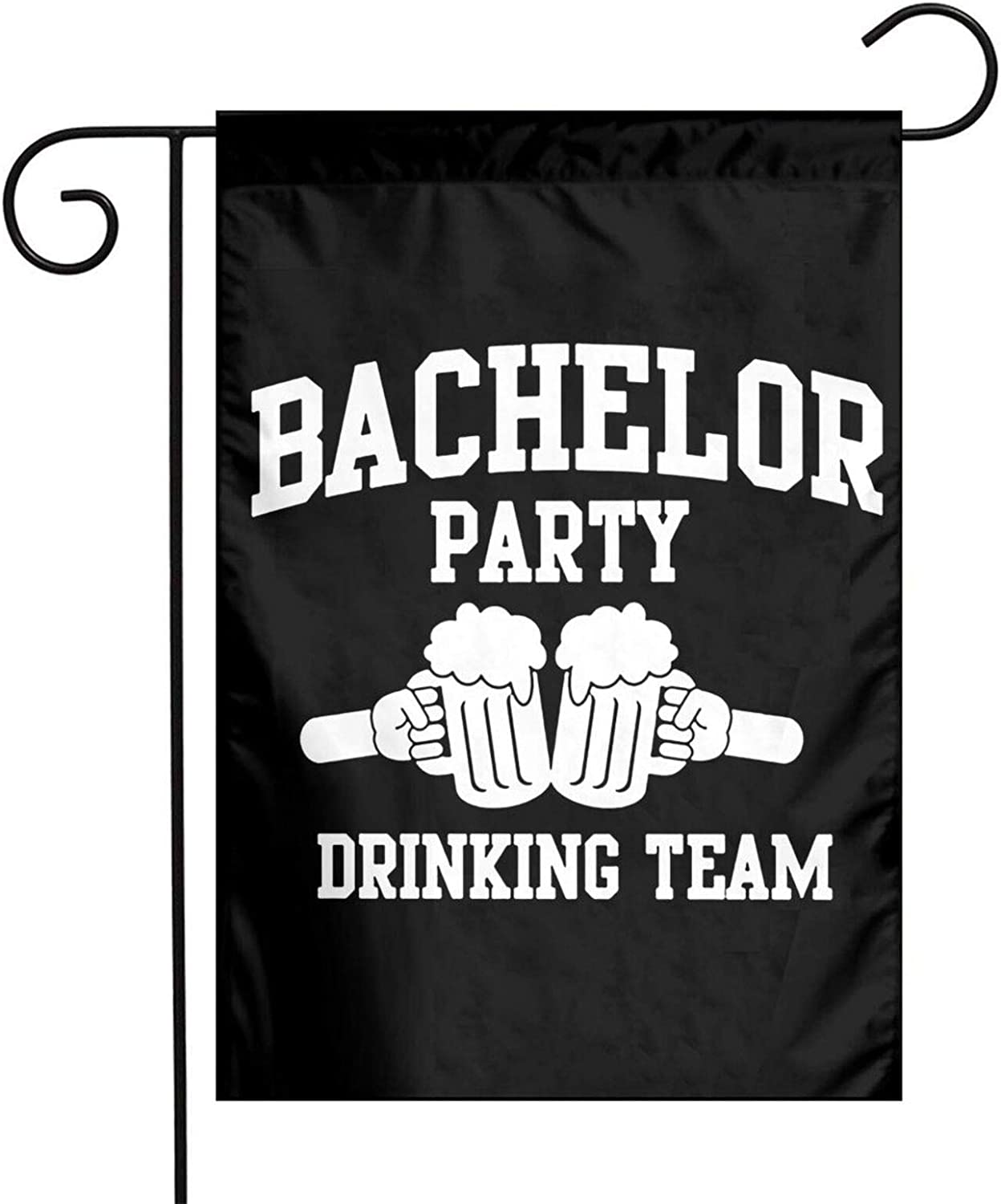XIOJEIEY Bachelor Party Groom Drinking Team Garden Flag Double Sided for Garden Yard Outdoor Decorative 12 X 18 Inch