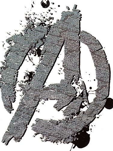 4 Inch Marvel Avengers A Logo Symbol Sign Assemble Group Hulk Iron Man Captain America Thor Hawkeye Black Widow Removable Wall Decal Sticker Home Decor 3 1/2 inch wide x 4 1/4 inch tall