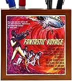 Rikki Knight Vintage Movie Posters Art Fantastic Voyage 4 Design 5-Inch Wooden Tile Pen Holder (RK-PH3709)