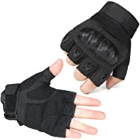 TrendenZ Ventilate Wear-resistant Military Equipment Half Finger Fingerless and Full Finger Tactical Gloves Hard Knuckle and Foam Protection for Shooting Airsoft Hunting Outdoor M/L/XL