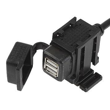 meipire 12 – 24 V DC Moto 3.1 A Dual USB Agua Densidad Auto Cargador Teléfono Cargador navegacíon dispositivo carga para teléfono ...