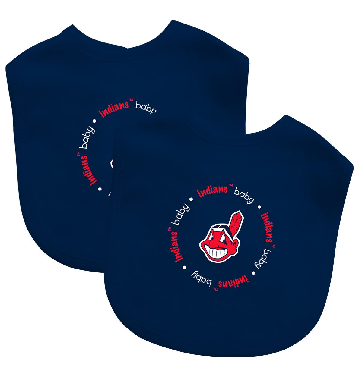 Baby Fanatic Team Color Bibs, Cleveland Indians, 2-Count by Baby Fanatic (Image #1)