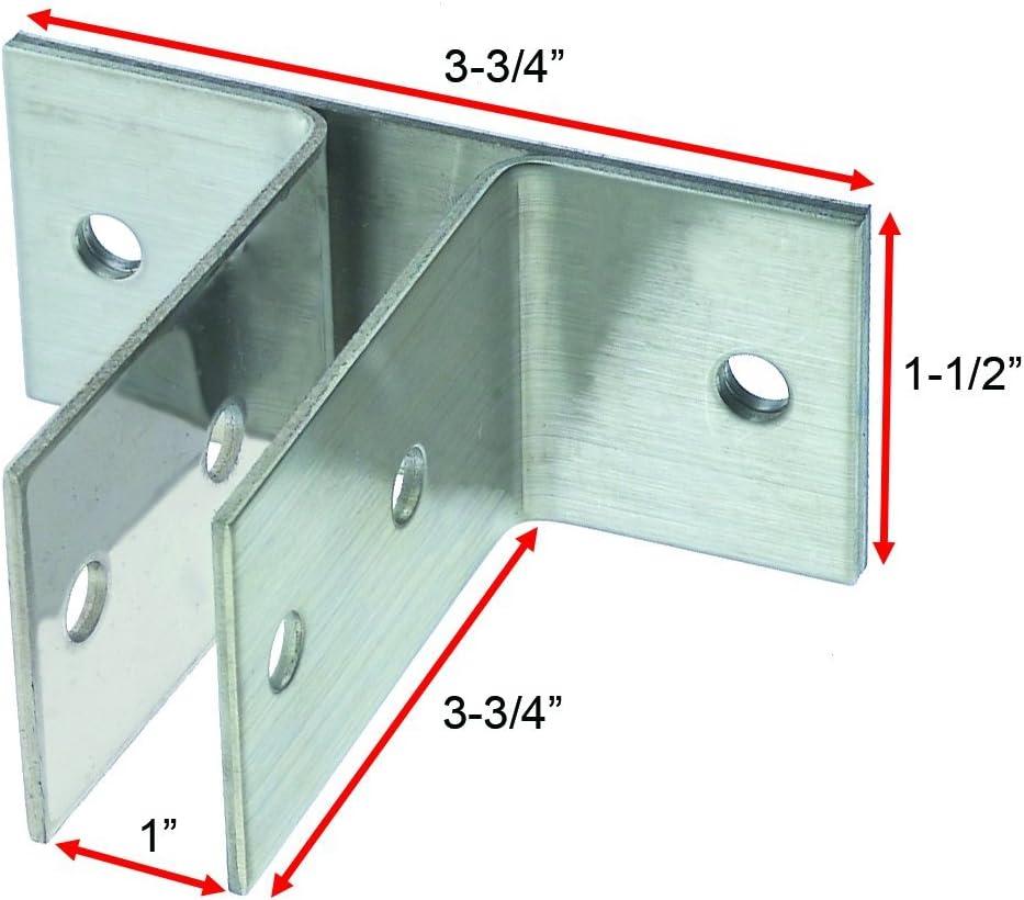 "24 2.25/"" x 2.25/"" Metal Black Corner Gusset Brace Angle Brackets,Furniture Lot"
