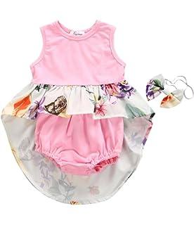 32b0e3e21 Amazon.com  HappyMA Infant Toddler Baby Girl Clothing Floral Dress ...