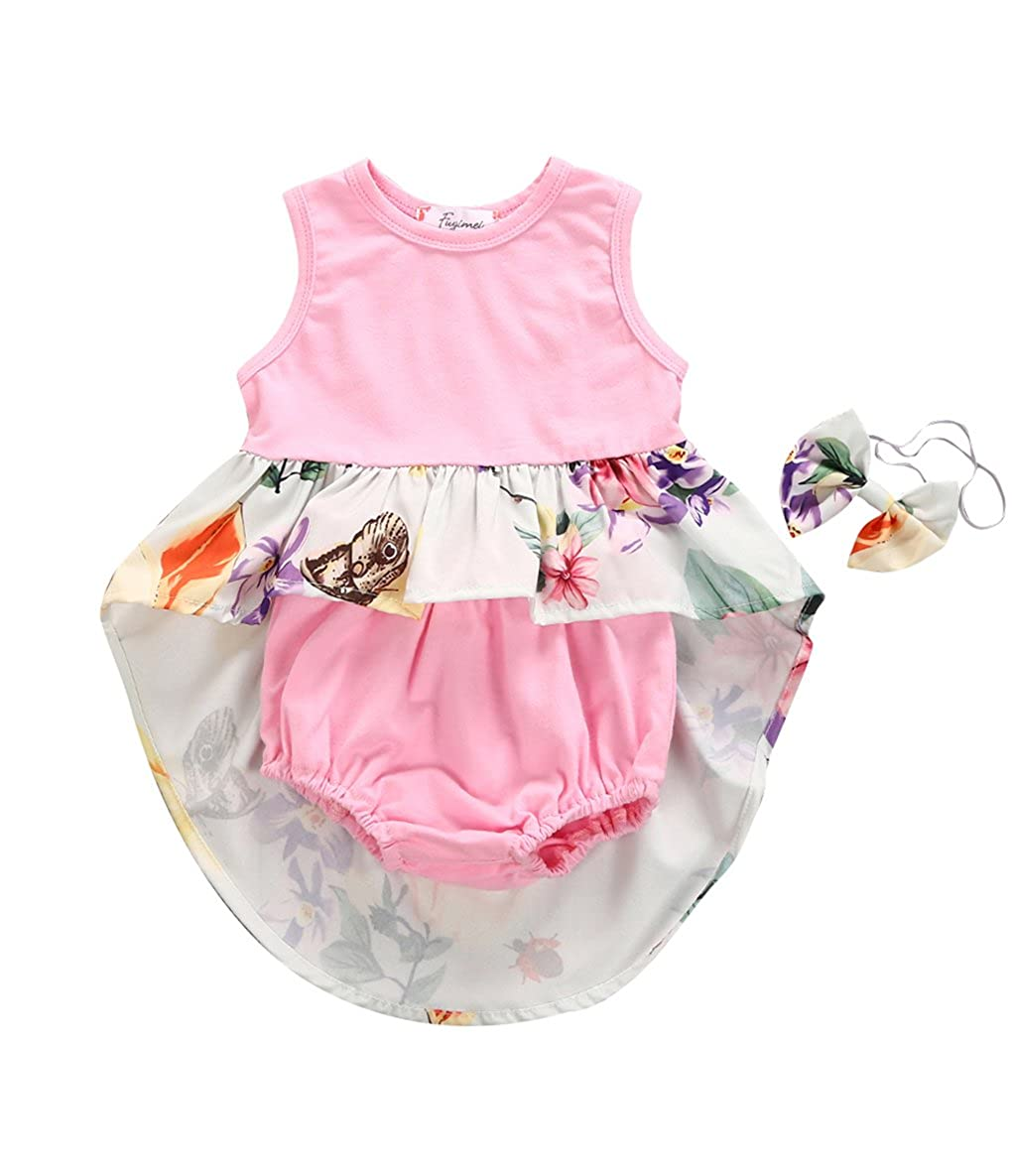 e4e67b4c922 Big Sister Little Sister Floral Matching Clothing Lace Ruffle Sleeve  Romper  Dress Outfit Family Clothing