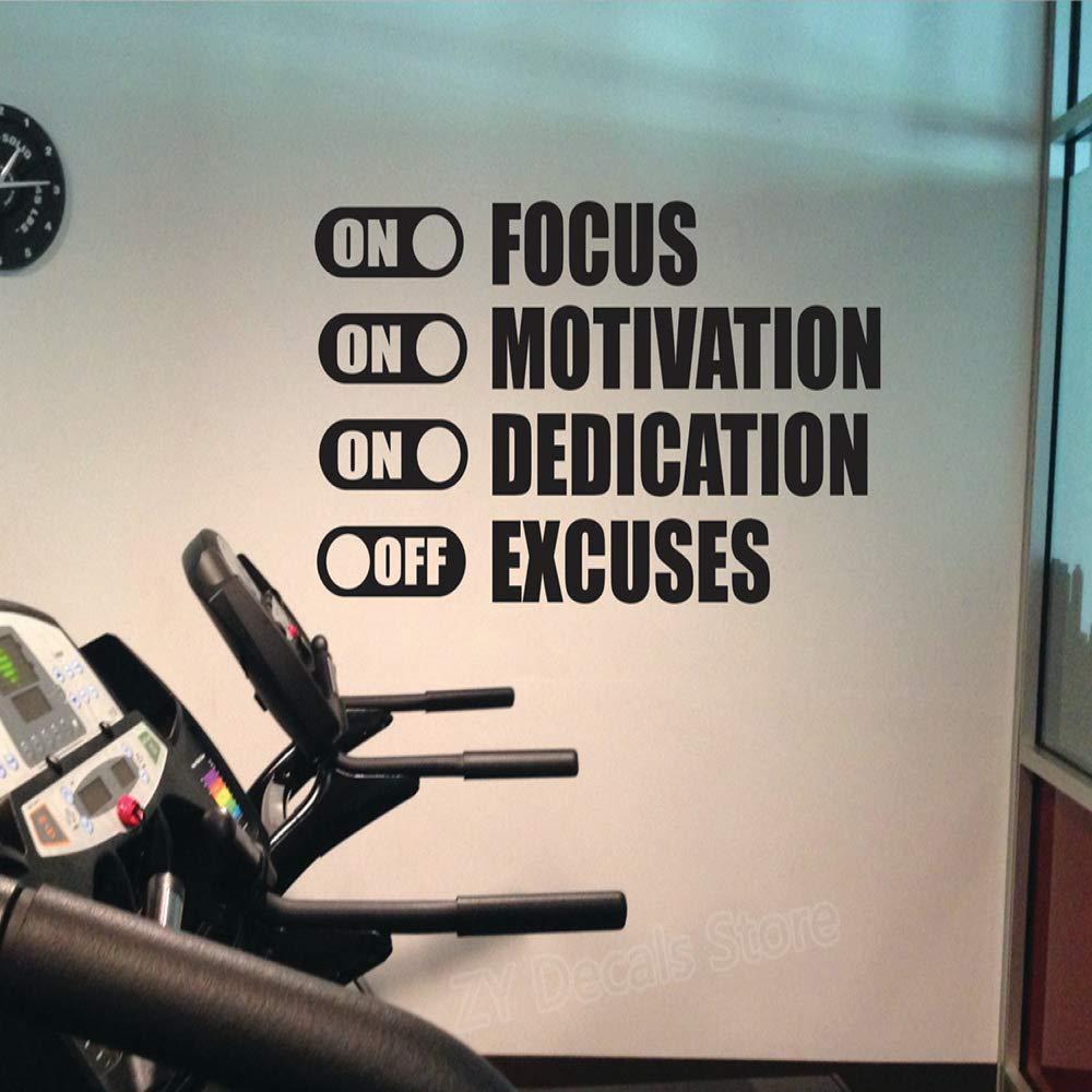Dedicación de motivación de enfoque en excusas de pegatinas de ...