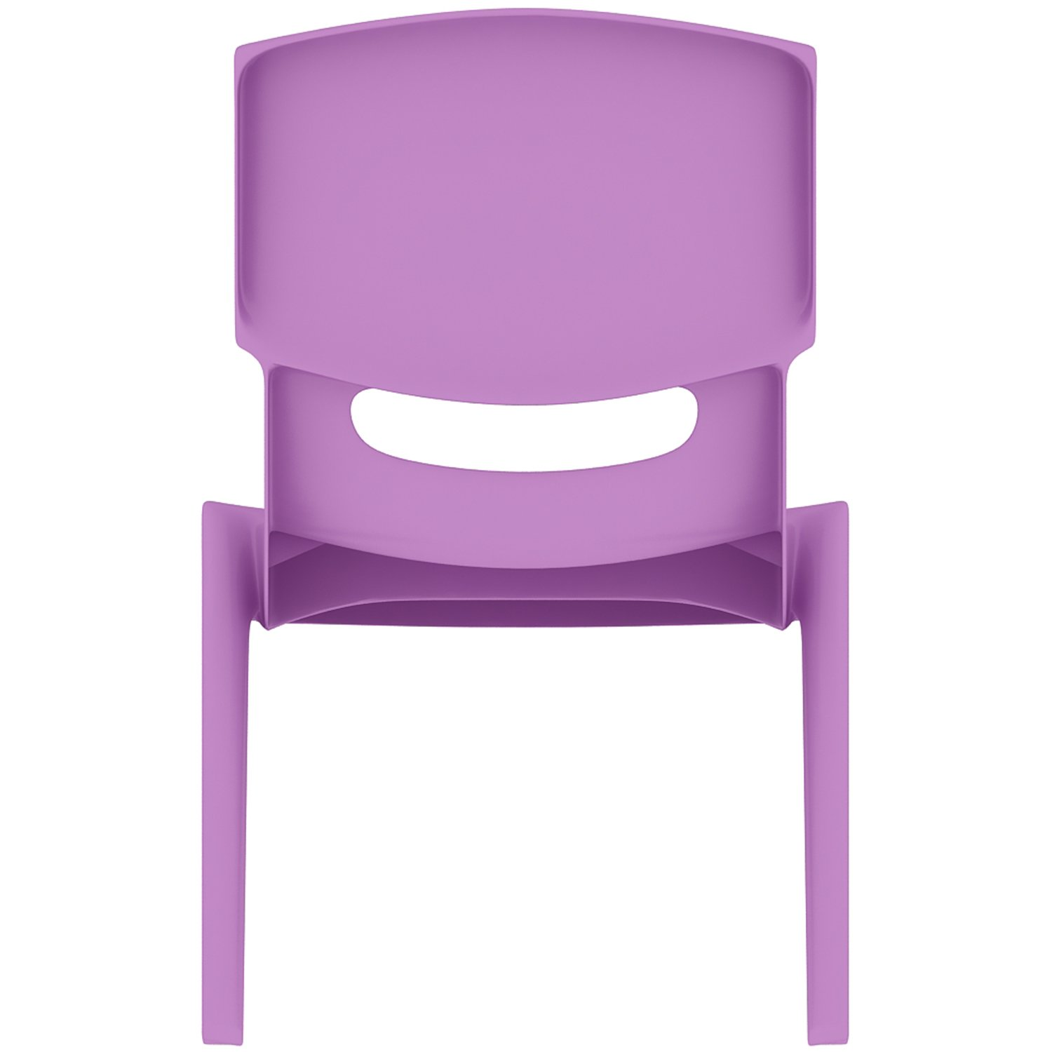 2xhome - Set of Four (4) - Purple - Kids Size Plastic Side Chair 10'' Seat Height Purple Childs Chair Childrens Room School Chairs No Arm Arms Armless Molded Plastic Seat Stackable by 2xhome (Image #5)