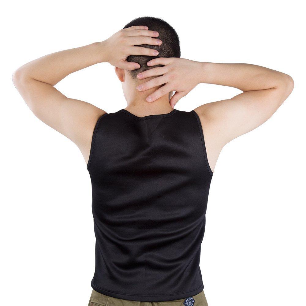 sorliva Body Shaper Weste Sweat Sauna passt f/ür Herren Gewicht Verlust ohne Rei/ßverschluss