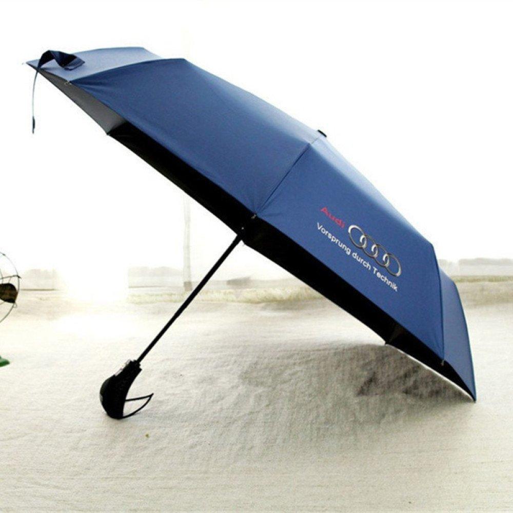 XING GUANG AUDI Europa Und Das Original Einzigen Audi Regenschirm 30 Prozent Vinyl Automatische Regenschirm Winddicht Regenschirm,Black mnbvc