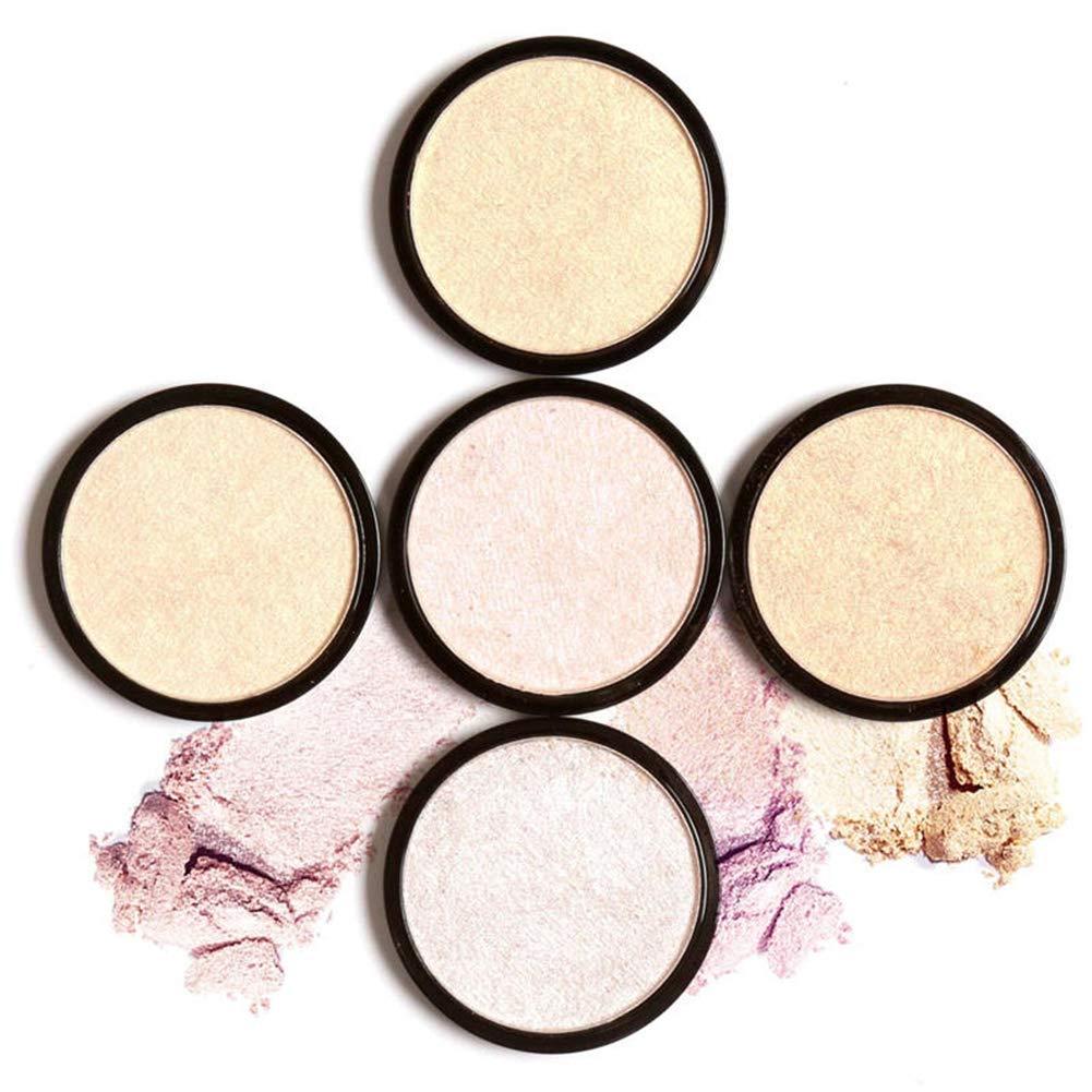 Faymio 5colori Illuminator illuminante viso in polvere pressata evidenziatore facile da indossare per viso Shimmer Feilv-FA28H05
