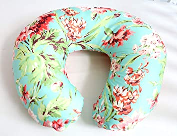 Soft and Comfortable Safely Fits On Standard Infant Nursing Pillows 2 Pack Nursing Pillow Cover Slipcover for Breastfeeding Pillows Floral