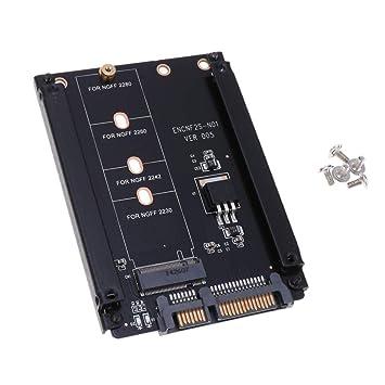 H HILABEE M.2 NGFF SATA SSD Adapter Converter 22 Pin para PC ...