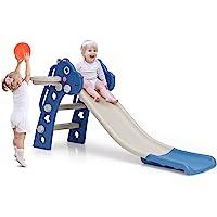 BABY JOY 3 in 1 Slide for Kids, Toddler Slide Climber Set for Indoor Outdoor, Freestanding Baby Game Slide with Extra…