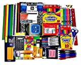 Basic school supplies bundle includes 20 Cra-Z-Art #2 pencils, 2 large glue sticks, 10 Cra-Z-Art washable markers, 12 Cra-Z-Art colored pencils, 2 Smart Start Pencil Sharpeners, 40 Assured antibacterial wet wipes, 24 Cra-Z-Art crayons, 5 Academix dry...