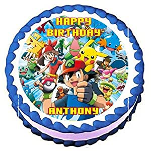Edible Cake Images Pokemon : Amazon.com: Pokemon Edible Frosting Sheet Cake Topper - 7 ...