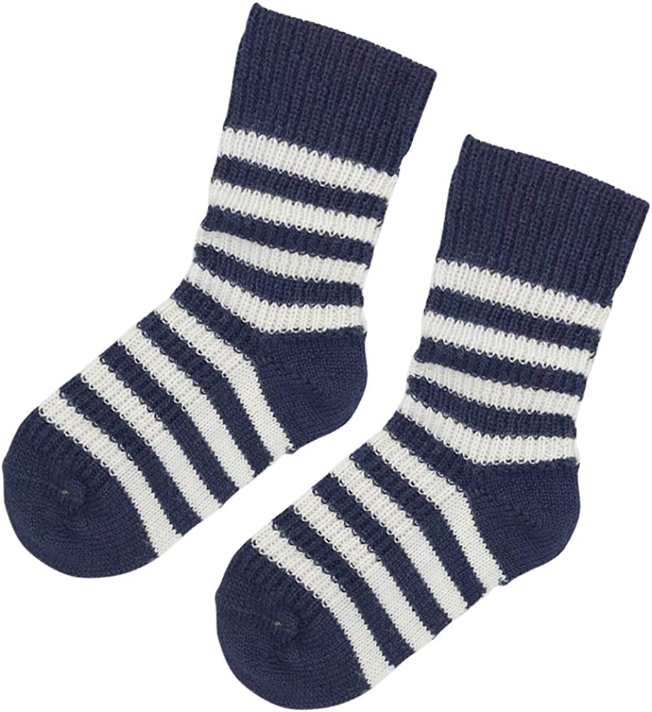Kids Wool Socks 8 Years Size Baby 3-pack Thick Organic Virgin Wool Socks for Girls and Boys