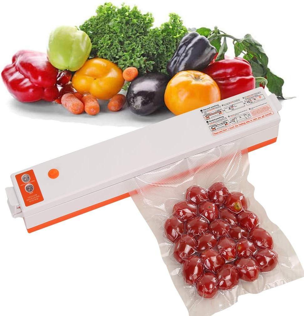Double Pump Vacuum Sealer Machine Automatic Vacuum Sealing System Food Saver For Sous Vide and Food Storage, Orange