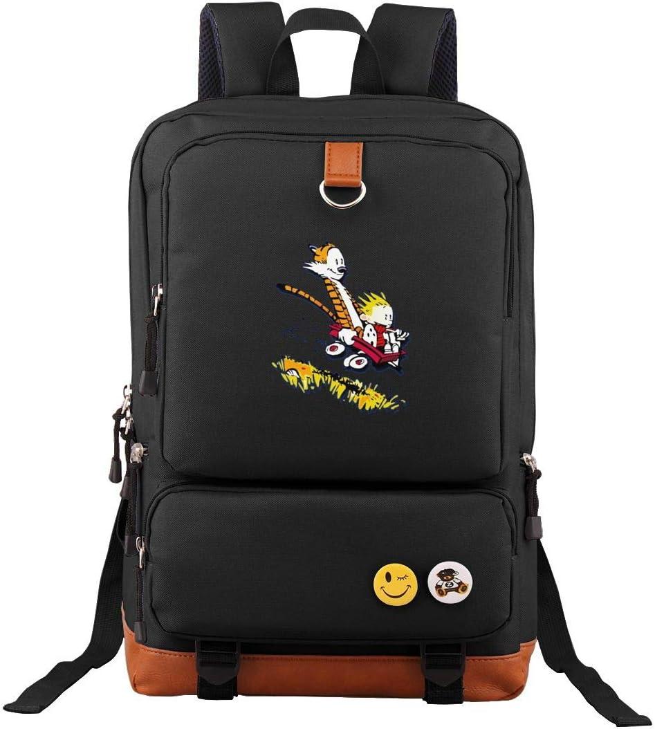 Travel Backpack Calvin And Hobbes Tiger Laptop Bag Vintage Bookbag College Daypack