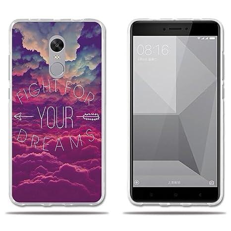 FUBAODA Funda Carcasa para Xiaomi Redmi Note 4X, Carcasa de Silicona Transparente TPU, Carcasa Protectora de Goma de Altisima Calidad para Xiaomi ...