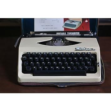 Máquina de escribir 8typewriter, Vintage años 80 Antigua Inglés con Carcasa de metal con