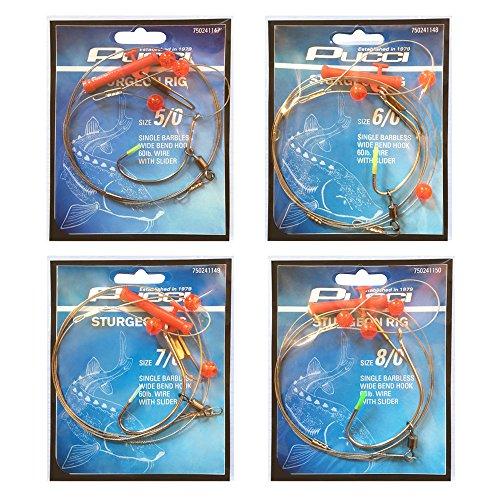 P-Line Bundle: Fishing Sturgeon Rig with Slider Set - Size 5/0, Size 6/0, Size 7/0 and Size 8/0