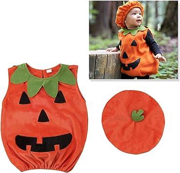 Amosfun Disfraz de Calabaza de Halloween Traje de Vestir Ropa con ...