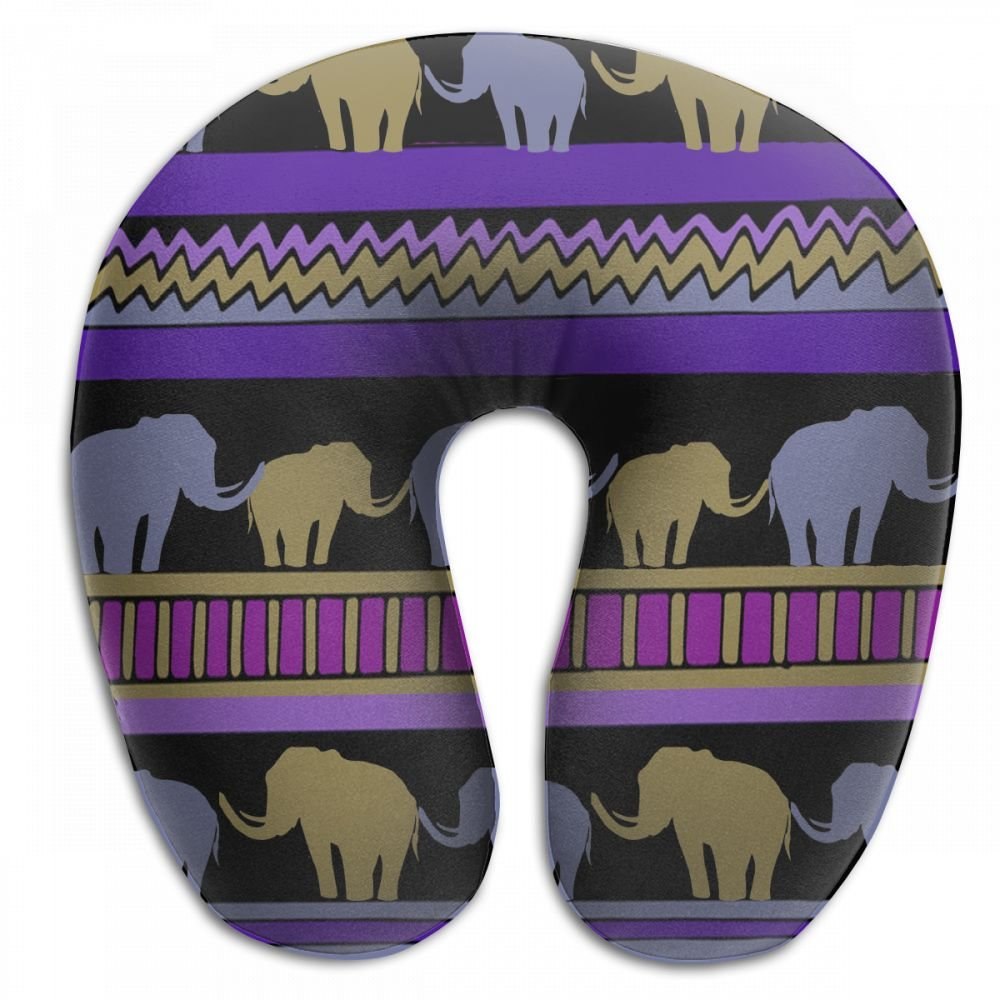 Antonia Bellamy Funny India Elephant Animal Soft Neck Pillows Neck-Supportive Travel Pillow