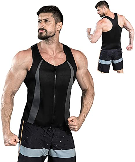 Faja Reductora Adelgazante Hombre Fitness Camiseta Compresion Deportivo Chaleco