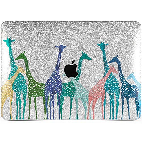 Lex Altern Glitter MacBook Case Pro 15 Air 13 11 12 inch Mac Cute Shiny Silver Glossy Colorful Giraffes 2018 Abstract Rhinestone Animal Gold Retina Blue Tropical Cover Hard Shell ()