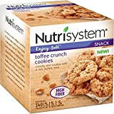 Nutrisystem Toffee Crunch Cookies, 1.3 oz, 24 Packs Counted